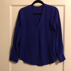 J Crew V neck silk blouse